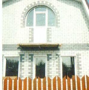 Овальное окно из ПВХ