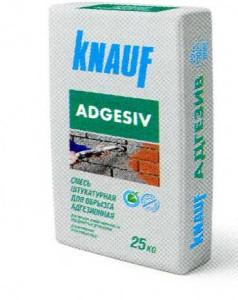 Штукатурка цементная для обрызга, адгезионная КНАУФ-Адгезив
