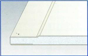 Стандартный лист Гипрок GKB 12.5 (Pro Edge) ширина 1200 мм