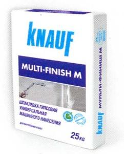 Шпаклевка гипсовая финишная машинного нанесения КНАУФ Мульти-финиш М