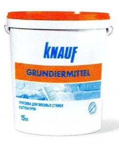 Грунтовка для гипсовых стяжек и штукатурок КНАУФ-Грундирмиттель