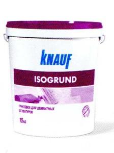 Грунтовка для цементных штукатурок КНАУФ-Изогрунд
