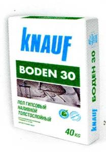 Пол гипсовый наливной толстослойный КНАУФ-Боден 30