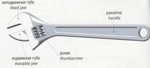 Раздвижной ключ с роликом (шведский ключ). Adjustable spanner