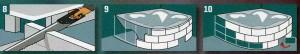 Для облицовки ванны вырежьте блоки из гилсокартона