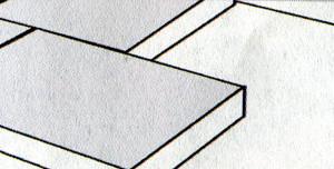 Панели из жесткого пенопласта кладутся по принципу половинчатого перекрытия