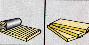 Минеральную вату советуют использовать для перекрытий с деревянными балками