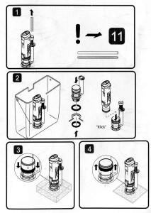 Сборка унитазного клапана