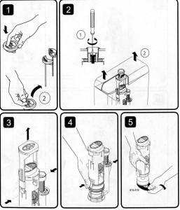 Разбор смывочного механизма бочка