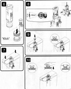 Разбор смывочного механизма бочка и замена прокладки