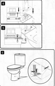 Крепление смывочного бачка к унитазу