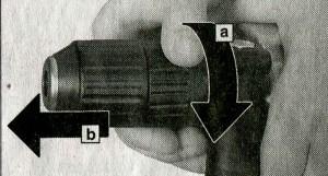 Снятие патрона с перфоратора