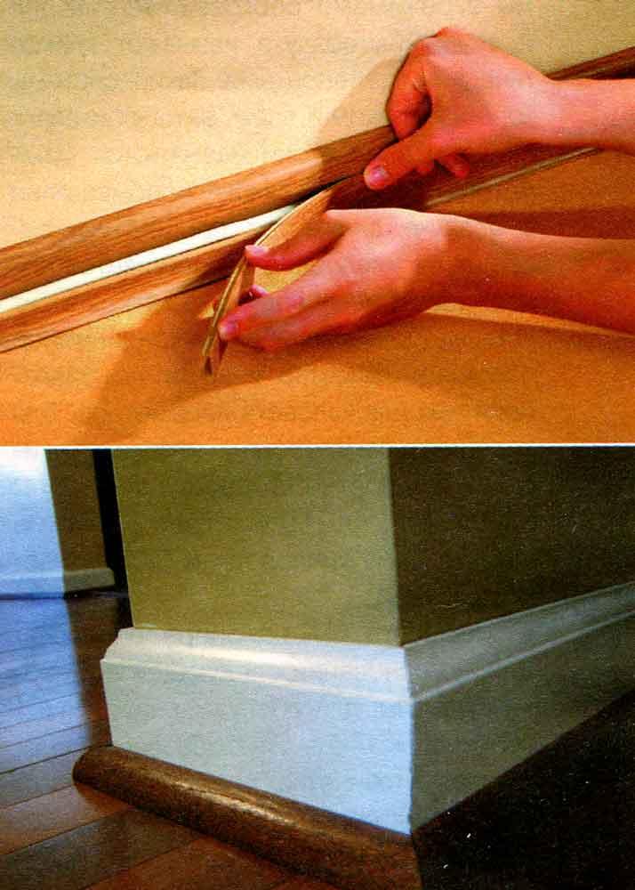 Как сделать деревянные плинтуса своими руками 158