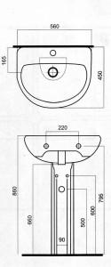 Схема установки раковин