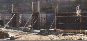 Колонны выполненные с помощью GEOPANEL