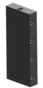 ЭЛЕМЕНТ 25 X Н 60 см (реальный размер 25.2 X 60.5 СМ)  МАТЕРИАЛ
