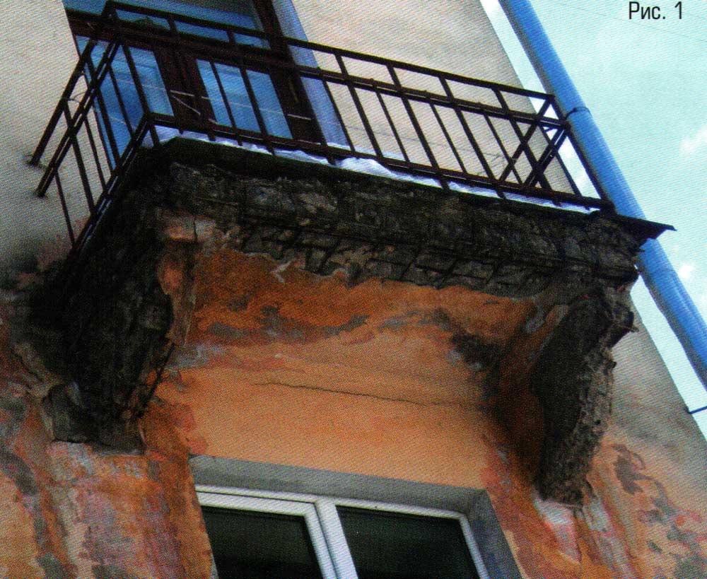 Укрепление балкона стройматериалы.