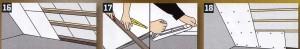 Следует избегать повреждений пароизоляционной пленки между стропилами, на верхнем и нижнем концах устанавливаются замыкающие рейки.