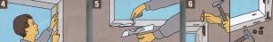 повреждения на подоконнике