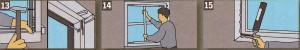 Вставьте дюбели для рамы и скрепите болтами раму с проёмом. Пластиковые окна прочно закрепите в проёме с помощью анкеров