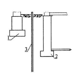Схема устройства шпунтовой стенки между близко расположенными существующим и