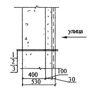 Стена из керамзитобетонных блоков (для жилых помещений