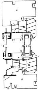Деревянный оконный блок с тройным остеклением