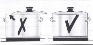о при приготовлении пищи