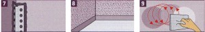 мастерок. На внешних углах рекомендуется использование угловых профилей, которые просто заштукатуриваются вместе со стеной. Сначала заштукатурьте обе граничащие стороны, а затем подравняйте края с помощью мастерка.