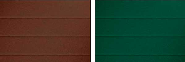 Варианты цветовой комплектации сдвижных ворот