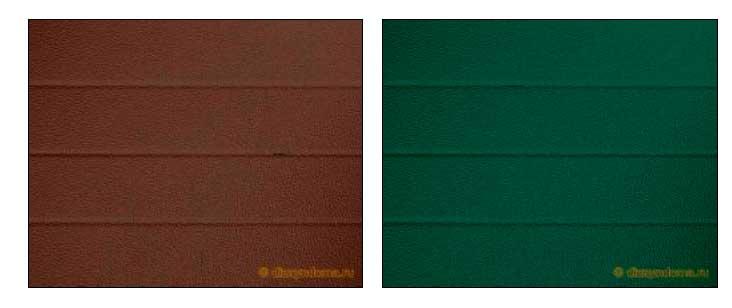 Выбор цвета откатных ворот