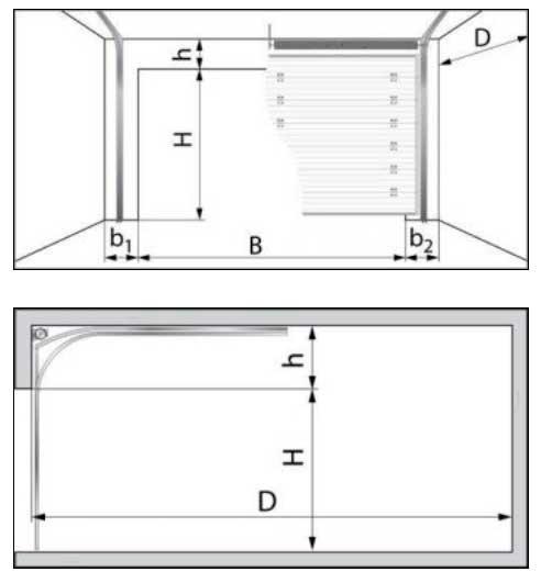 Секционные ворота DoorHan Yett01S размеры