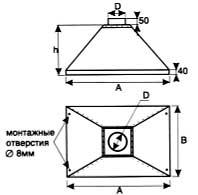 Вентиляция круглая Зонт вытяжной ВКЗВ