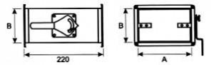Вентиляция прямоугольная Дроссель клапан ВПДК