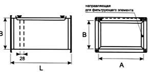 Вентиляция прямоугольная Корпус фильтра ВПКФ