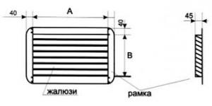 Вентиляция прямоугольная Решетка жалюзийная ВПРЖ