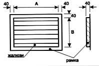 Вентиляция прямоугольная Решетка жалюзийная усиленная ВПРЖу