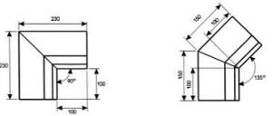 Водосток прямоугольный Угол желоба внутренний ВПУЖВ