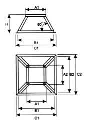Основание секции вертикального дымохода