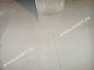 Разрез цементно-песчаной стяжки