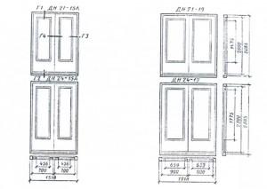 Двери с касающимися полотнами