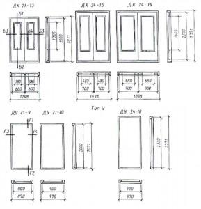 Конструкция дверей