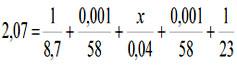 толщина уплотнителя формула