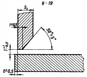 Угловое соединение ответвительного штуцера с трубой, со скосом одной кромки, одностороннее