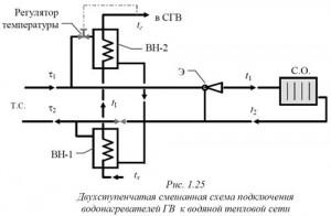 смешанная схема подключения водонагревателей ГВ