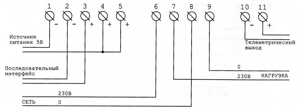 Схема подключение автомата к счетчику меркурий 201