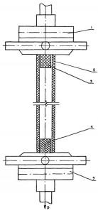 Схема испытаний трубного образца