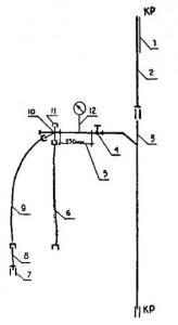 Схема коллекторной системы холодного водопровода с водосчётчиком