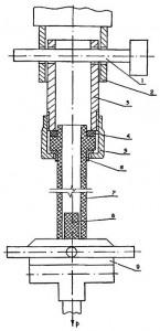 Схема испытаний при определении прочности соединения полиэтиленовой трубы