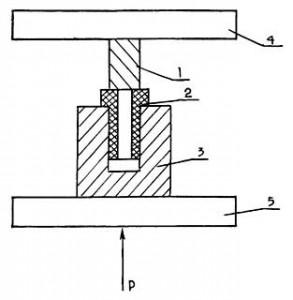 Схема испытаний прочности наплавляемых буртов